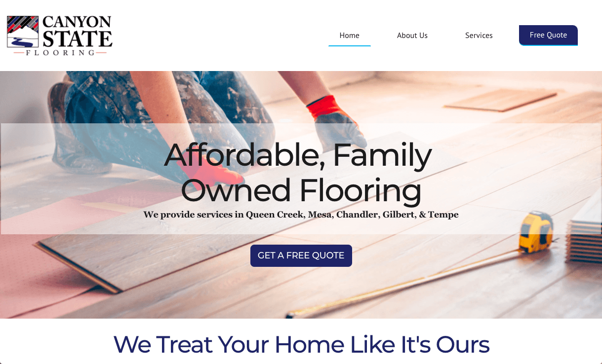 Canyon State Flooring Website
