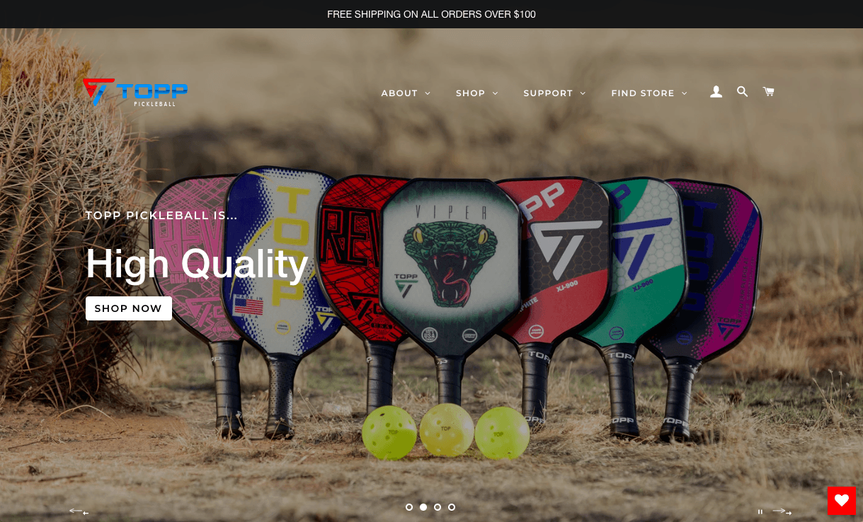 TOPP Pickleball Website